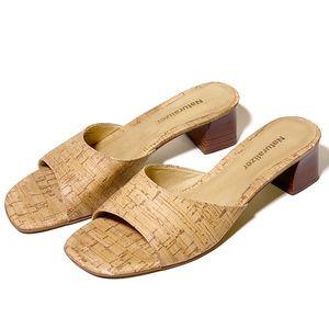 Naturalizer Cork Slip On Sandals with Heel